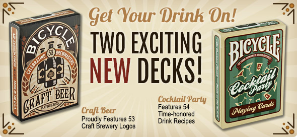 New! Craft Beer & Cocktail Party Decks