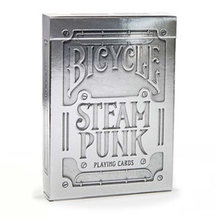 Silver Steampunk Playing Cards
